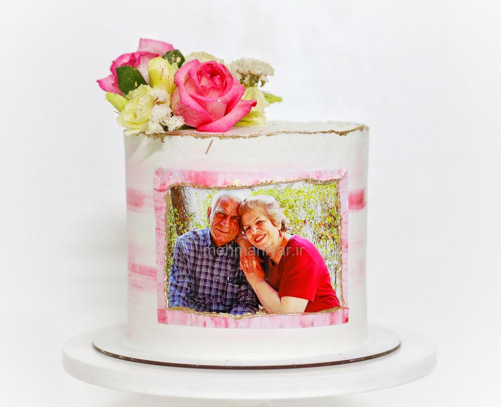 کیک سالگرد ازدواج چاپ تصویر