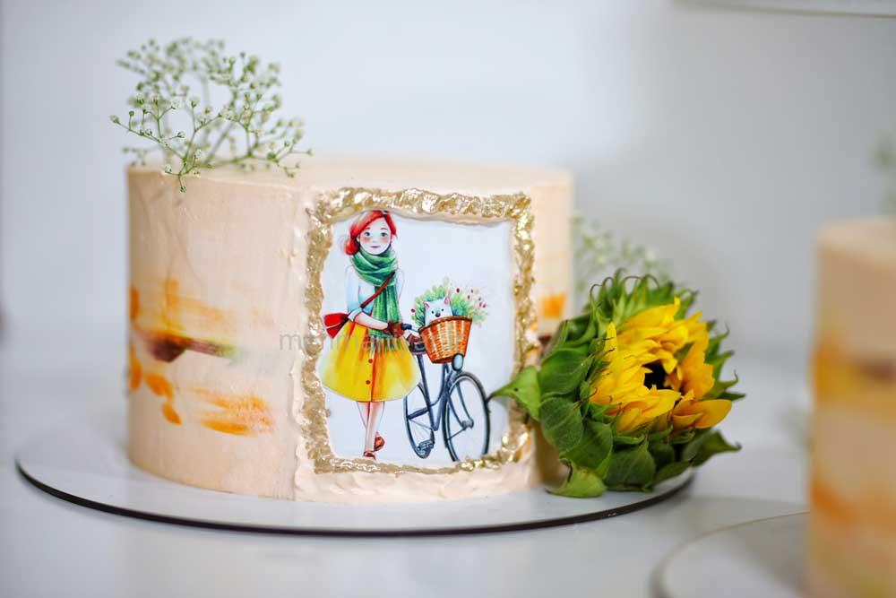 کیک گل آفتابگردون