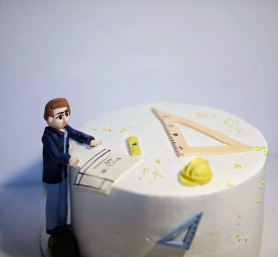 کیک مهندس عمران
