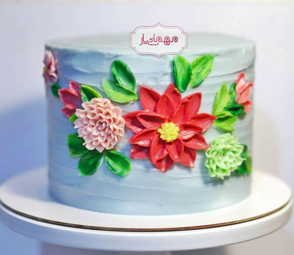 کیک با طرح گل