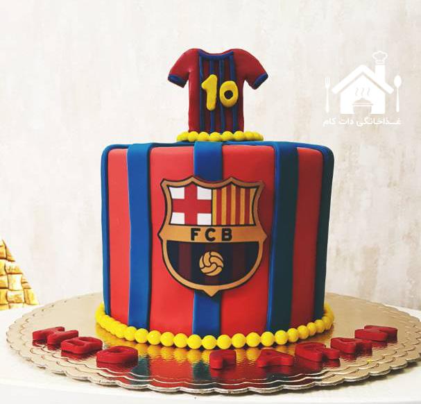کیک فوتبالی بارسلونا
