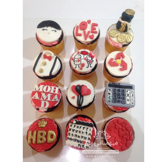 کاپ کیک تولد کارمند بانک