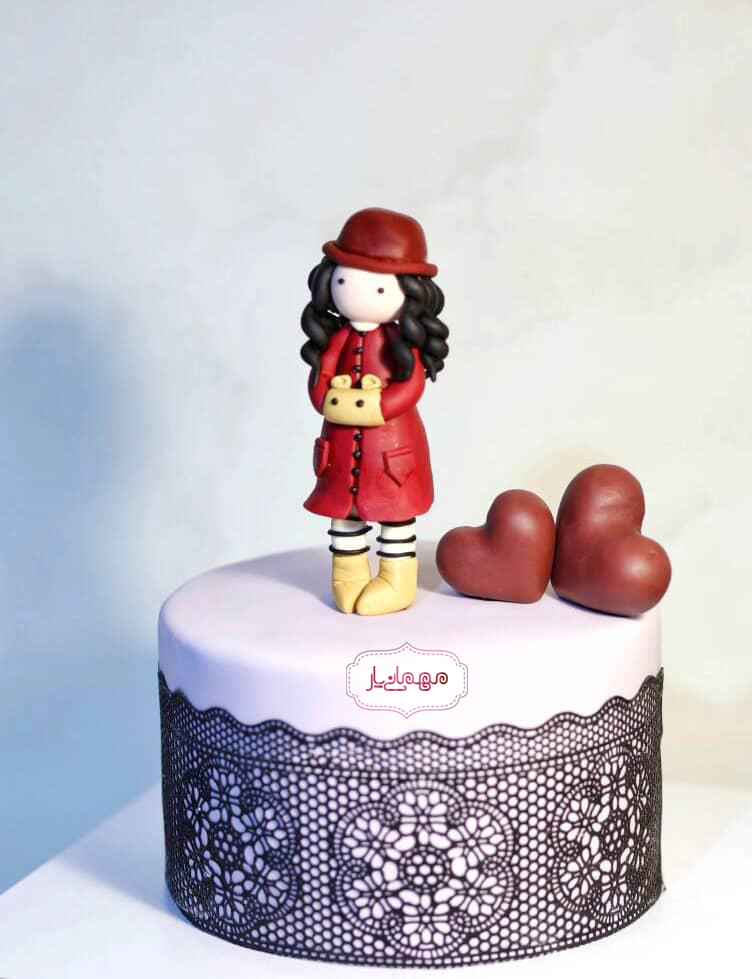 کیک دختر عاشق