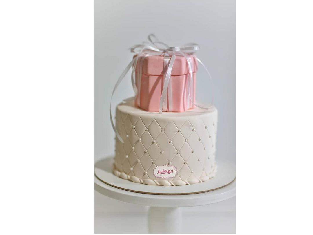 کیک جعبه هدیه