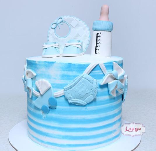 کیک گل پسر