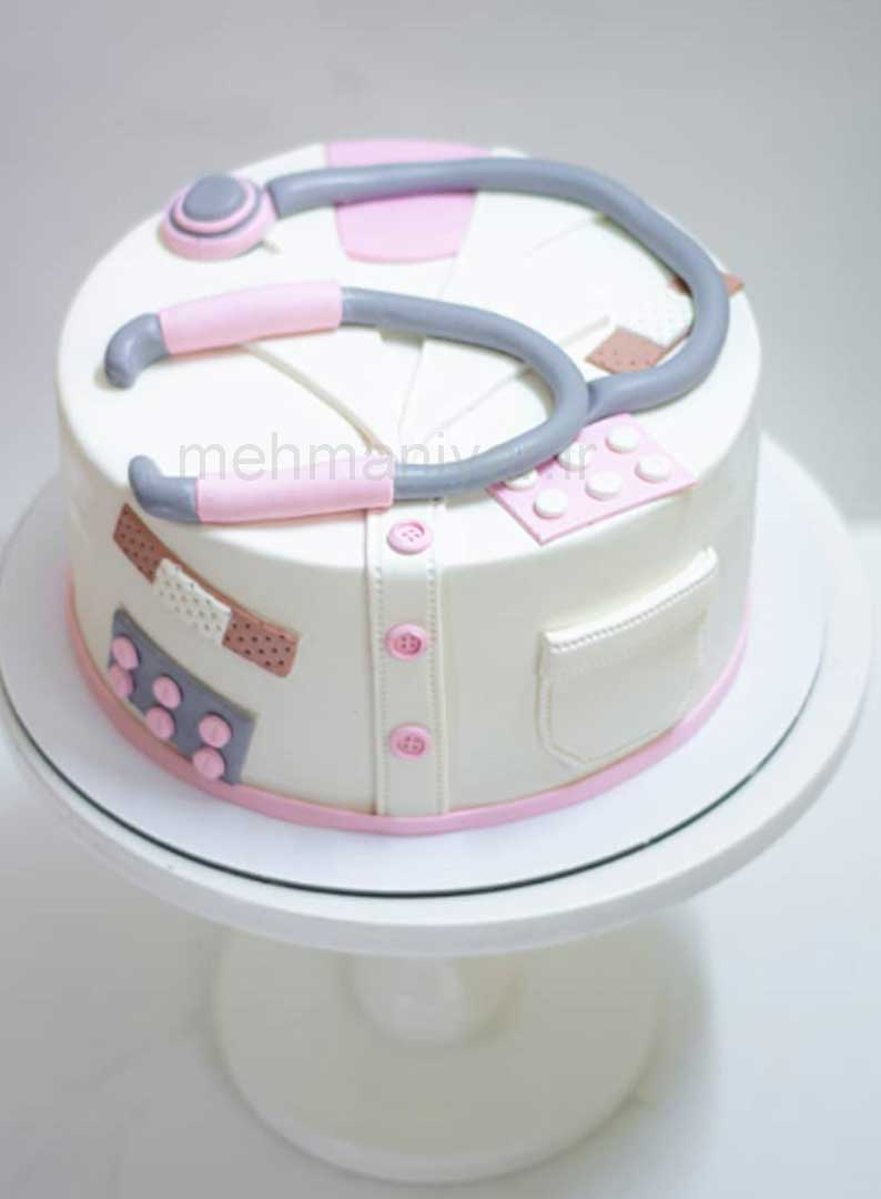 کیک پزشک زنانه