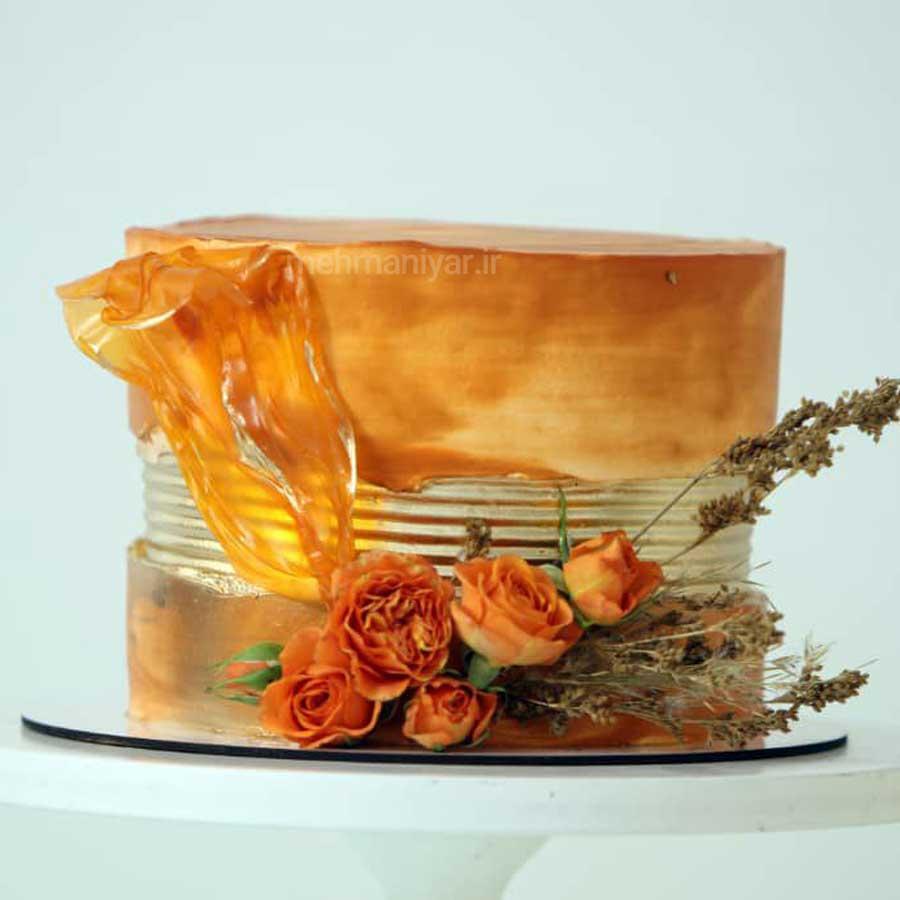 کیک گلهای پاییزی