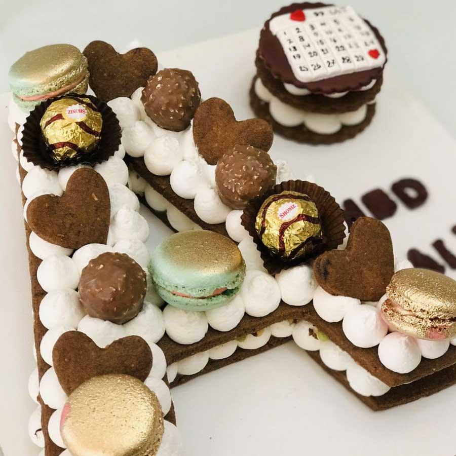 کیک سابله حروف
