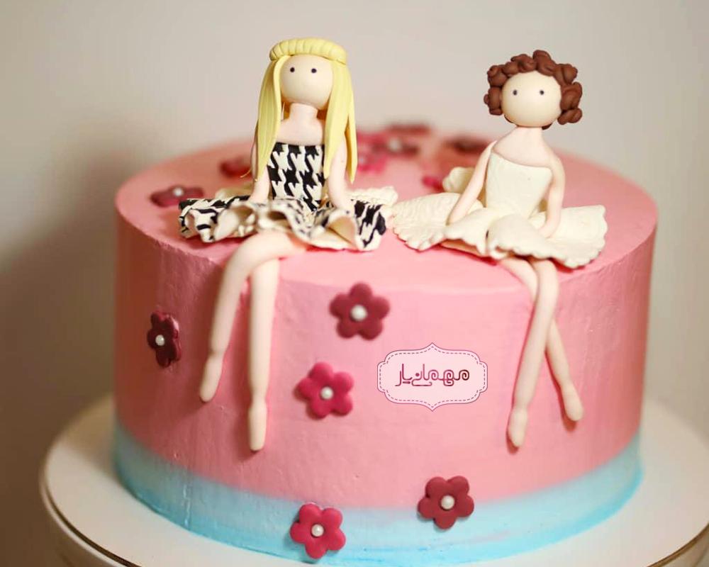 کیک دختران شکوفه
