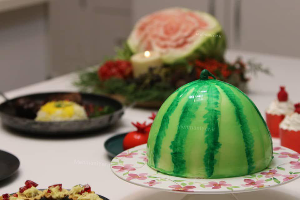 فیلم طرز تهیه کیک هندوانه