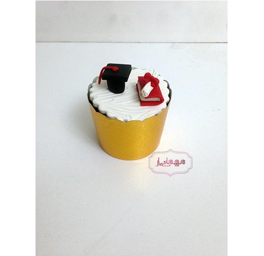 کاپ کیک قرمز جلسه دفاع