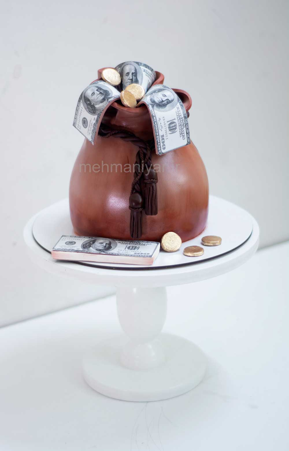 کیک کیسه دلار