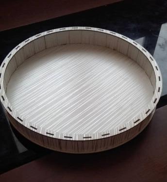 سینی سفید چوبی