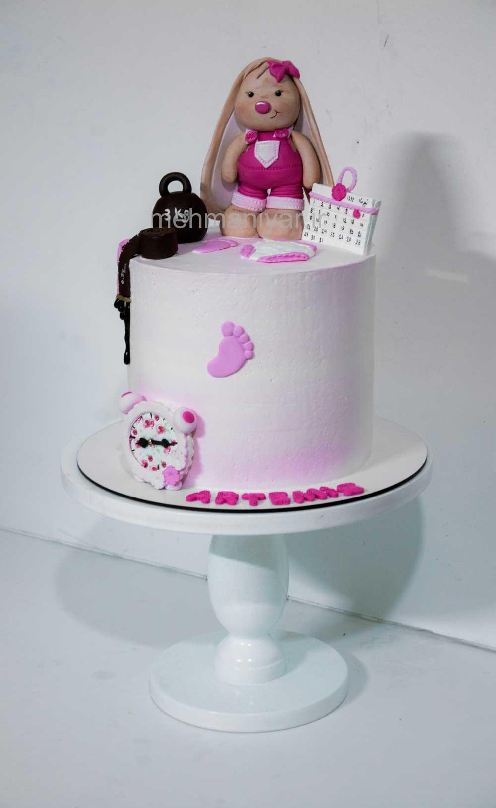 کیک نوزادی خرگوشی
