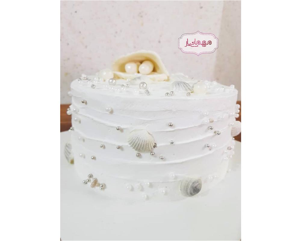 کیک صدف و مروارید