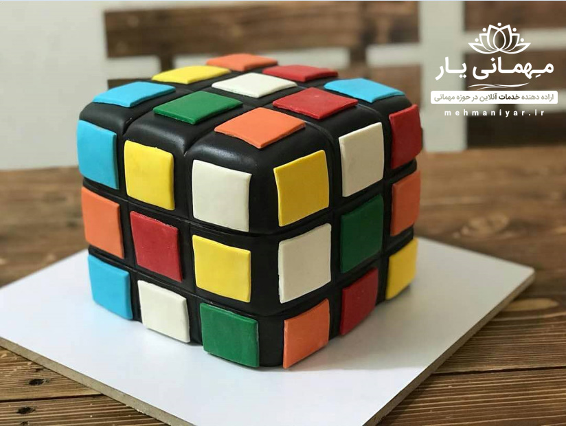 کیک مکعب روبیک