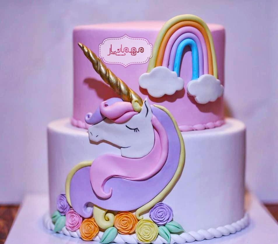 کیک یونیکورن (فوندانت)