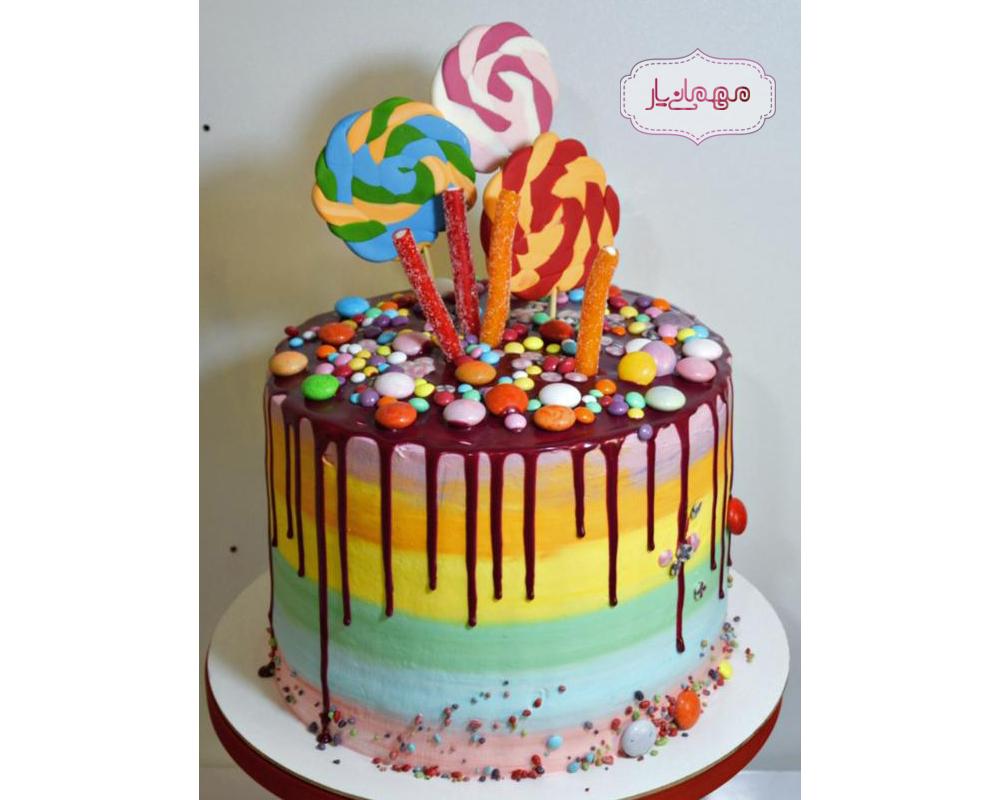 کیک رنگی اسمارتیز