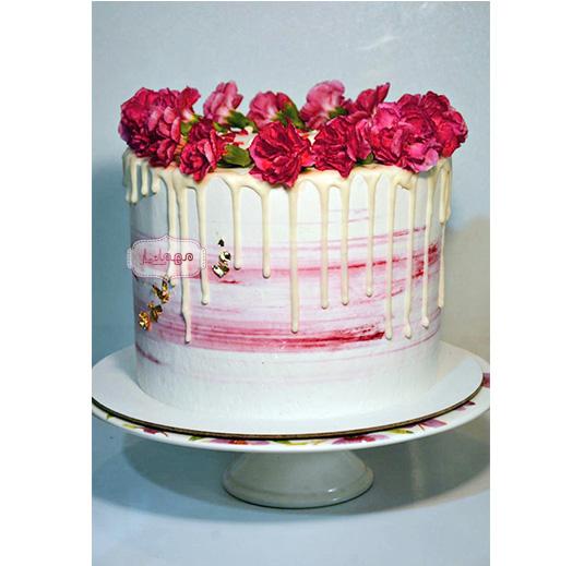 کیک صورتی