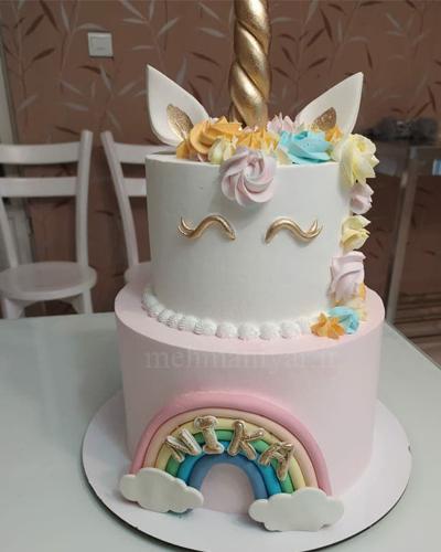 کیک یونیکورن دو طبقه