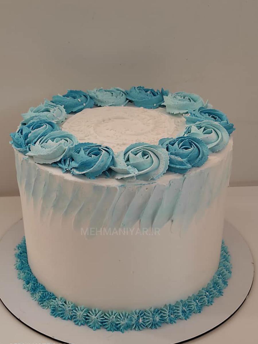کیک رزت آبی