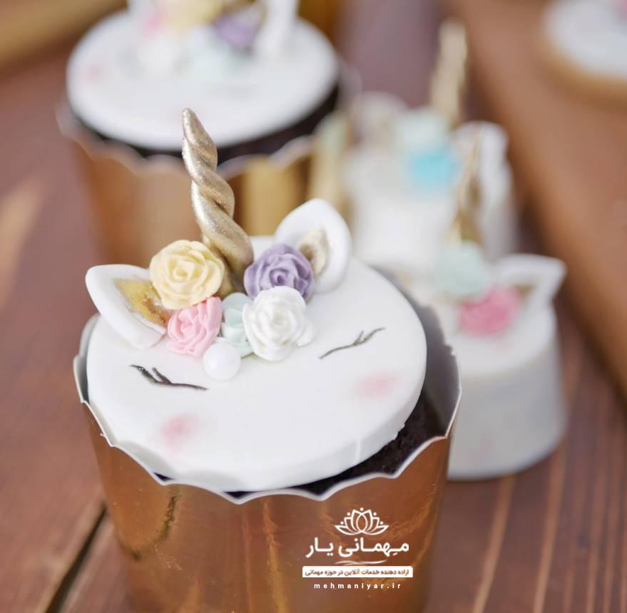کاپ کیک اسب تک شاخ یونیکورن