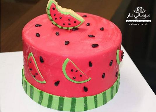 کیک هندوانهای یلدا
